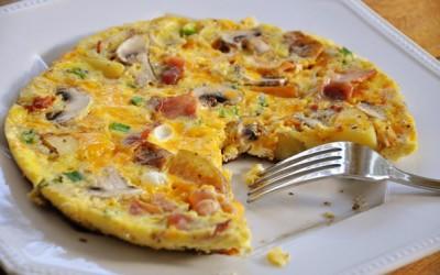 Αυγά με μπέικον και μανιτάρια!