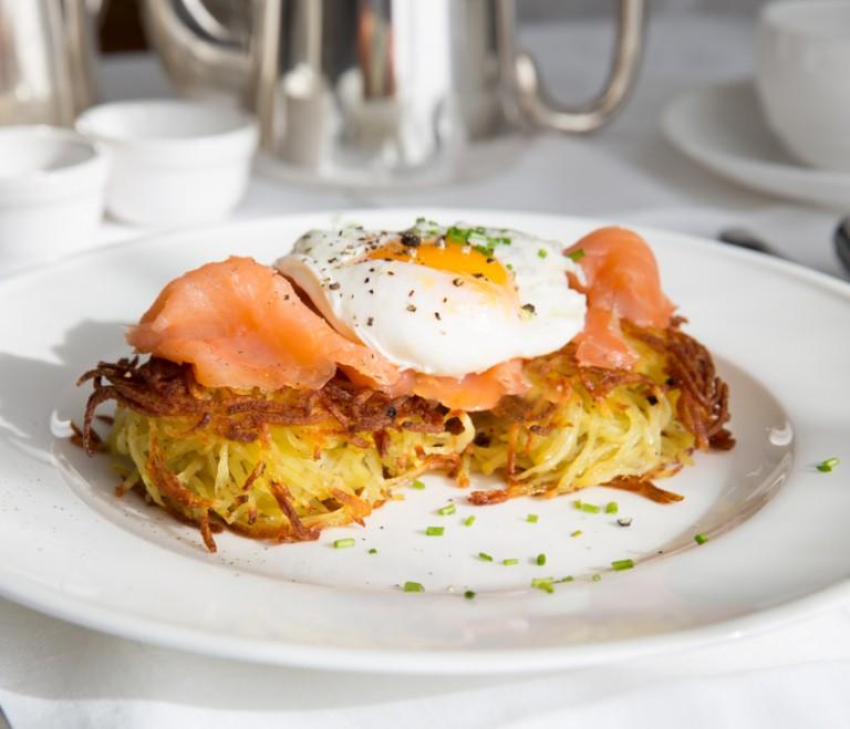 Τριμμένη πατάτα με αυγά